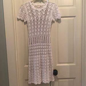Michael kors White crocheted dress